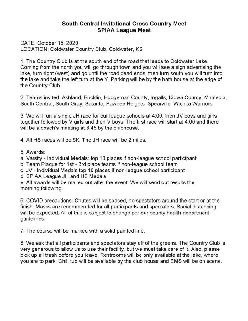 League XC Information