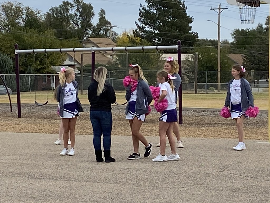 Cheer Leaders at JH Pep Rally