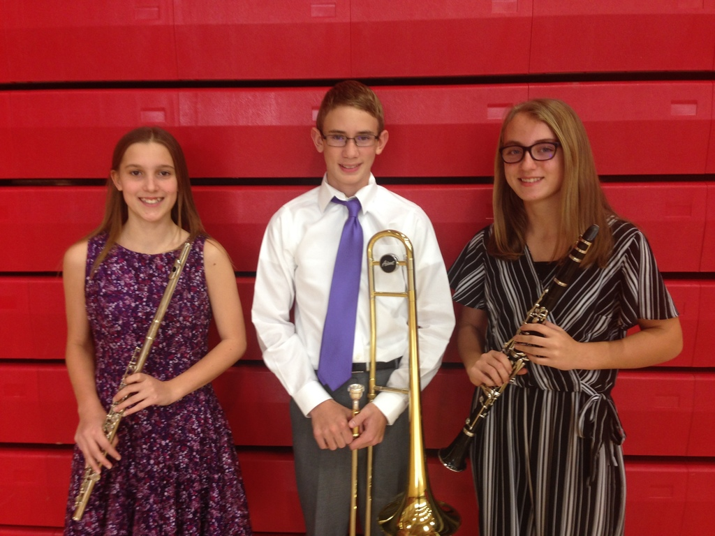 MJH Honor Band - Holly, Harrison, and Kynlee