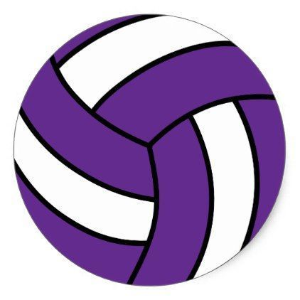 purple volleyball