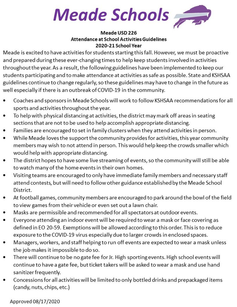 USD 226 Activities Guidelines